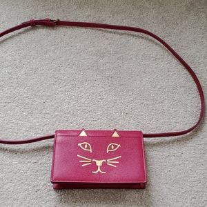 Charlotte olympia pink kitty purse